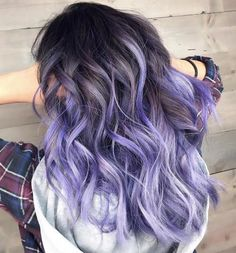 Brown Hair With Purple And White Highlights