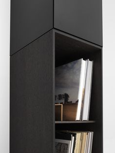 Pastoe detail Vision with Boxes, black and brown oak