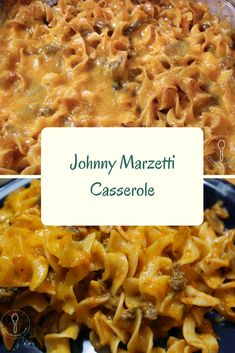 Johnny Marzetti Casserole is a hearty pasta dish. This cheesy dish is great for a family meal, feeding a crowd, or even a potluck meal. Egg Noodle Recipes, Pasta Recipes, Cooking Recipes, Dinner Casserole Recipes, Dinner Recipes, Egg Noodle Casserole, Dinner Ideas, Johnny Marzetti Recipe With Egg Noodles, Ground Beef Recipes Easy