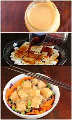 Soba Noodle Bowl with Marinated Tofu and Peanut Sauce by lisatrucmaile ...