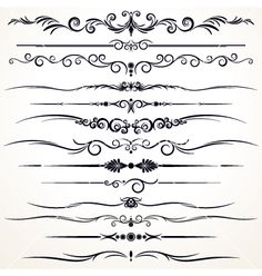 Illustration about Set of Ornamental Rule Lines in Different Design styles An additional Vector . Eps file available. Illustration of different, beautiful, cards - 40011872 Bracelete Tattoo, Tattoo Foto, Pinstriping Designs, Decorative Lines, Clip Art, Lettering Styles, Border Design, Border Pattern, Artwork Prints