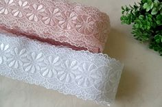 embroidered mesh lace by the yard width 5.3cm 83537 by cottonholic