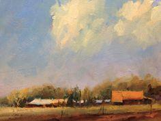 'Spring fields' 9x12 Oil on board