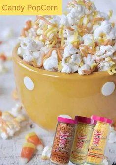 Candy popcorn sprinkle recipe #candy #popcorn #recipe www.pinkzebrahome.com/HopeMyers