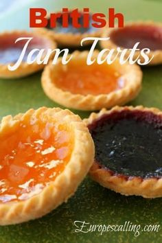 British Jam Tarts ~ my grandma always made these for us. I wish I had her crust recipe. Welsh Recipes, Uk Recipes, Scottish Recipes, Tart Recipes, Dessert Recipes, English Recipes, British Recipes, Turkish Recipes, Kitchen