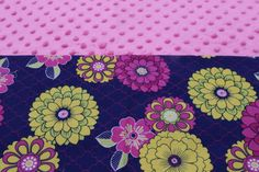 Pink and Navy Floral KinderMat Nap Mat Cot Cover Daydreamer by YarnkeeDoodle on Etsy