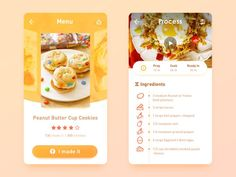 recipes interface -