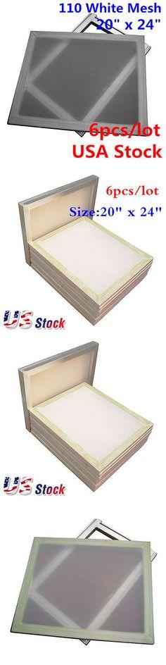 3a5ef8d2ffb Screen Printing Frames 183114  Us Stock! 6 Pcs Lot - 20X24 Inch Aluminum  Screen