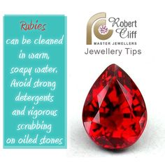 This is a great #JewelleryTip for keeping your rubies bright! #jewellerycare #jewelrytip