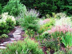 Deer Resistant Garden Source by carolynd Garden Hoe, Garden Yard Ideas, Dream Garden, Lawn And Garden, Garden Landscaping, Landscaping Ideas, Deer Resistant Garden, Planting Plan, Garden Pests