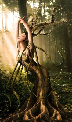 * Dryade .. By *MadameThenadier*. Dryads and tree nymphs are very real in the Classic Greek (Olympian) Religion!