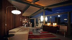 Crestwood Hills via LATimes | George Nelson Saucer Sconce and Cigar Lamp