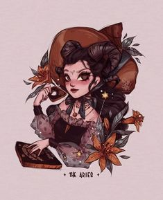 The Witchy Zodiac Aries Art, Zodiac Art, Gemini Gemini, Character Inspiration, Character Art, Character Design, Character Illustration, Illustration Art, Witch Drawing
