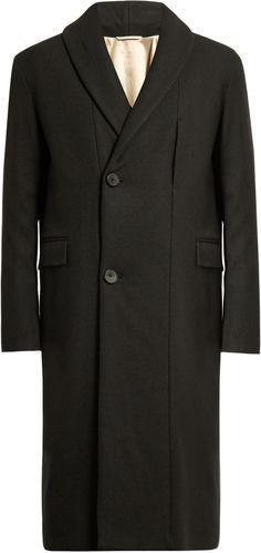 LEMAIRE Kaftan yak-wool overcoat Mens Wool Coats, Wool Overcoat, Kaftan, Suit Jacket, Stylish, Jackets, Tops, Fashion, Down Jackets