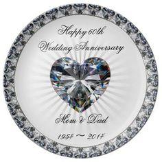 60th Wedding Anniversary Porcelain Plate Marylandchina_plate