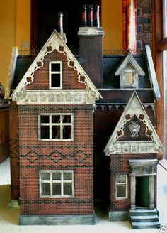 Beautifully aged dollhouse.   Rick Maccione-Dollhouse Builder www.dollhousemansions.com