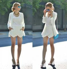 I would wear this anytime. Like the full outfit. Lovely.#whiteonwhite
