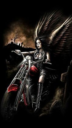 WALLPAPERS - Gothic, skulls, death, fantasy, erotic and animals: death Gothic Pictures, Gothic Images, Dark Images, Angel Pictures, Harley Davidson Wallpaper, Harley Davidson Art, Fantasy Art Women, Dark Fantasy Art, Dark Art