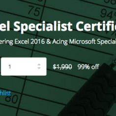 nice  Get the Microsoft Excel Specialist Certification Bundle for $19
