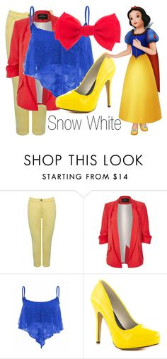 """""""Snow White~ DisneyBound"""" by basic-disney ❤ liked on Polyvore featuring M&Co, River Island, Michael Antonio and Disney"""