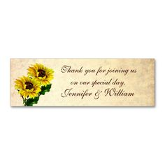 Vintage Sunflowers Custom Wedding Favor Tags Business Cards. This is a fully customizable business card and available on several paper types for your needs. You can upload your own image or use the image as is. Just click this template to get started!