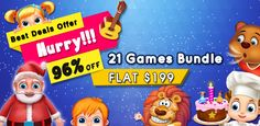 #GameBunch  #Hurry..!! Bloom this #Summer by #Developing your own #Games. 21 #GamesBundle AT JUST $199. Don't miss it. Best Android, Android Apps, Android Source Code, Cereal, 21st, It Cast, Bloom, Coding, Games