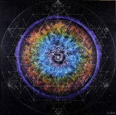 64TH NEBULANDALA  by Sean Yarbrough   >>> SPY-ART.COM <<<  #spyart #seanyarbrough #seanyarbroughart #visionary #visionaryart #art #artist #artwork #space #time cosmic #astro #galaxy #mandala #nebula #stars #planets #birth #death #end #beginning #chakras # infinity #spiral #fib #fibonacci #helix #human #skull