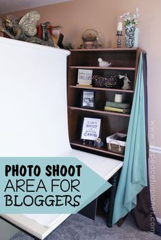 Are you a blogger who's always trying to find a decent place to take photos? We've got a way you can create a hidden photo shoot area that's always ready and waiting for you to use. It's great for small homes too!