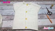 ŞİŞLE DEĞİŞİK BEBEK YELEK YAPILIŞI TÜRKÇE VİDEOLU | ÖRGÜVAKTİ Baby Knitting Patterns, Button Down Shirt, Men Casual, Vest, Anne, Crochet, Mens Tops, Shirts, Women