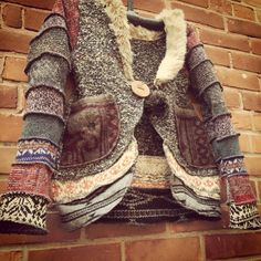 Recycled wool jacket by susanharrisdesign