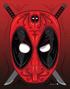 Loving Deadpool sugar skull!