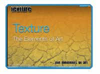 Texture- The Elements of Art - Repin This!