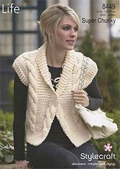 Ravelry: Cabled Waistcoat pattern by Stylecraft Yarns