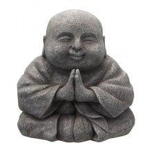 Praying Happy Buddha Statue, 8 Inches