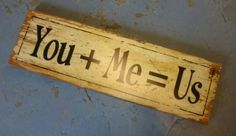 You + Me Sign £12.99