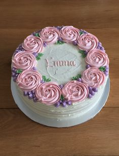 Floral buttercream layer cake