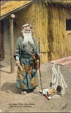 """Ainu - """"The bear killer"""", 1910"""