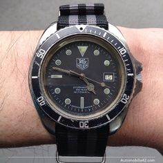 TAG Heuer 1000 Big size man Automatic black dial on Bond NATO band 844/5