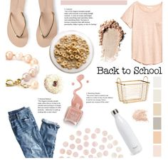Back to School- Light Pink by littledesigns on Polyvore featuring J.Crew, Aéropostale, S'well and BackToSchool