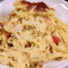 Cheap And Easy Chicken Spaghetti Recipe Main Dishes with rotisserie chicken, spaghetti, Velveeta, cream of mushroom soup, diced tomatoes and green chilies, garlic powder, salt, pepper