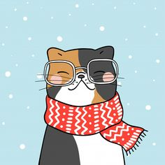 Find Draw cute cat with beauty scarf in snow for winter season stock vectors and royalty free photos in HD. Explore millions of stock photos, images, illustrations, and vectors in the Shutterstock creative collection. Cute Christmas Wallpaper, Christmas Tree Background, Christmas Flyer, Christmas Cats, Christmas Illustration, Cute Illustration, New Year Illustration, Cartoon Style, Winter Drawings
