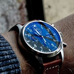 IWC - a cool blue face.
