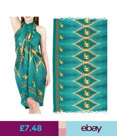 Swimwear Charm Elephant Sarong Pareo Skirt Dress Wrap Cover Up Beach Swimwear Sa258T #ebay #Fashion