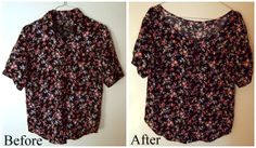 Refashionista: Old-fashioned shirt into a loose romantic blouse