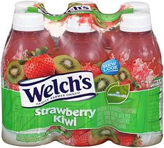 Welch's Strawberry Kiwi Drink Bottles (Pack of To view furt Ranchero Alegre, Gourmet Recipes, Snack Recipes, Party Punch Recipes, Junk Food Snacks, Strawberry Kiwi, Good Food, Yummy Food, Yogurt Smoothies