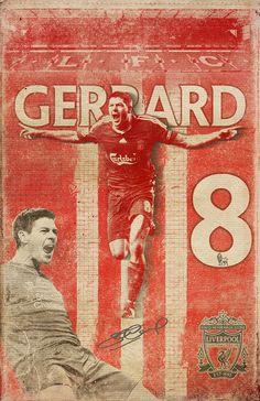 Steven Gerrard - Soccer Greats on Behance Fifa Football, Football Art, Alabama Football, Liverpool Fc Wallpaper, Liverpool Wallpapers, Fc Liverpool, Liverpool Football Club, This Is Anfield, Steven Gerrard