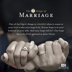 "The 7 Ring of Marriage | When you first say ""I do,"" the future seems rosy. But what happens when your dream relationship becomes a nightmare? Leading you through seven ""rings"" of marriage---engagement, wedding, discovering, persevering, restoring, prospering, and mentoring---Bledsoe prepares you for a lifetime of lasting love as you move through each circle of commitment."