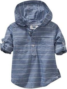 Striped Oxford Hoodies for Baby Product Image Toddler Boy Fashion, Little Boy Fashion, Toddler Boy Outfits, Baby Kids Clothes, Kids Fashion, Fashion Women, Boys Summer Outfits, Kids Outfits, Baby Boys