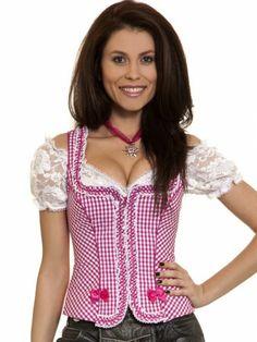 Trachtenmieder Constanze (pink, beere) - Krüger Madl
