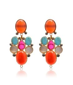 Golden Aqeeq Studded Earrings